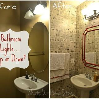 Should Bathroom Lights face Up or Down, bathroom lights up or down