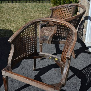 how to paint a cane chair