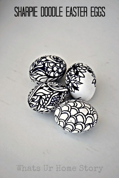 Sharpie Doodle Easter Eggs