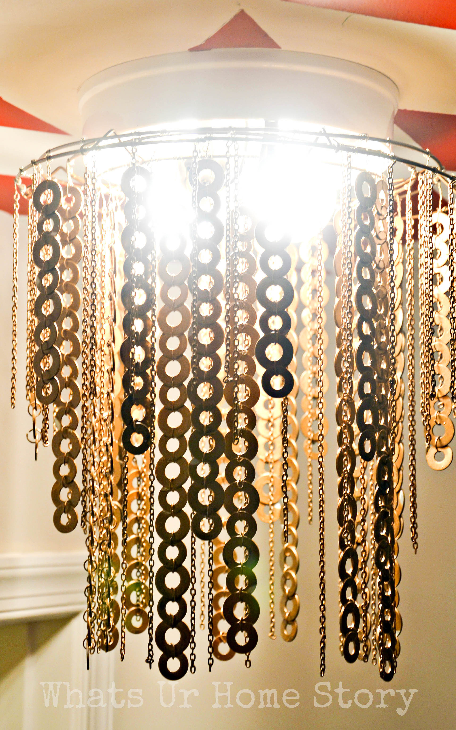 Diy flat washer chandelier whats ur home story diy flat washer chandelier arubaitofo Images