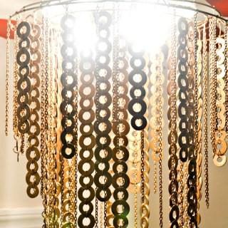 flat washer chandelier