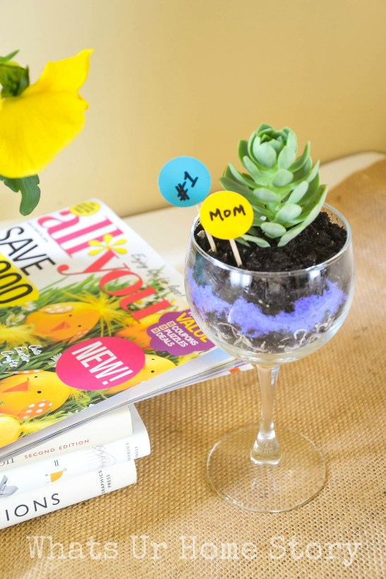 Wine Glass Planter + $50 Safeway Giveaway