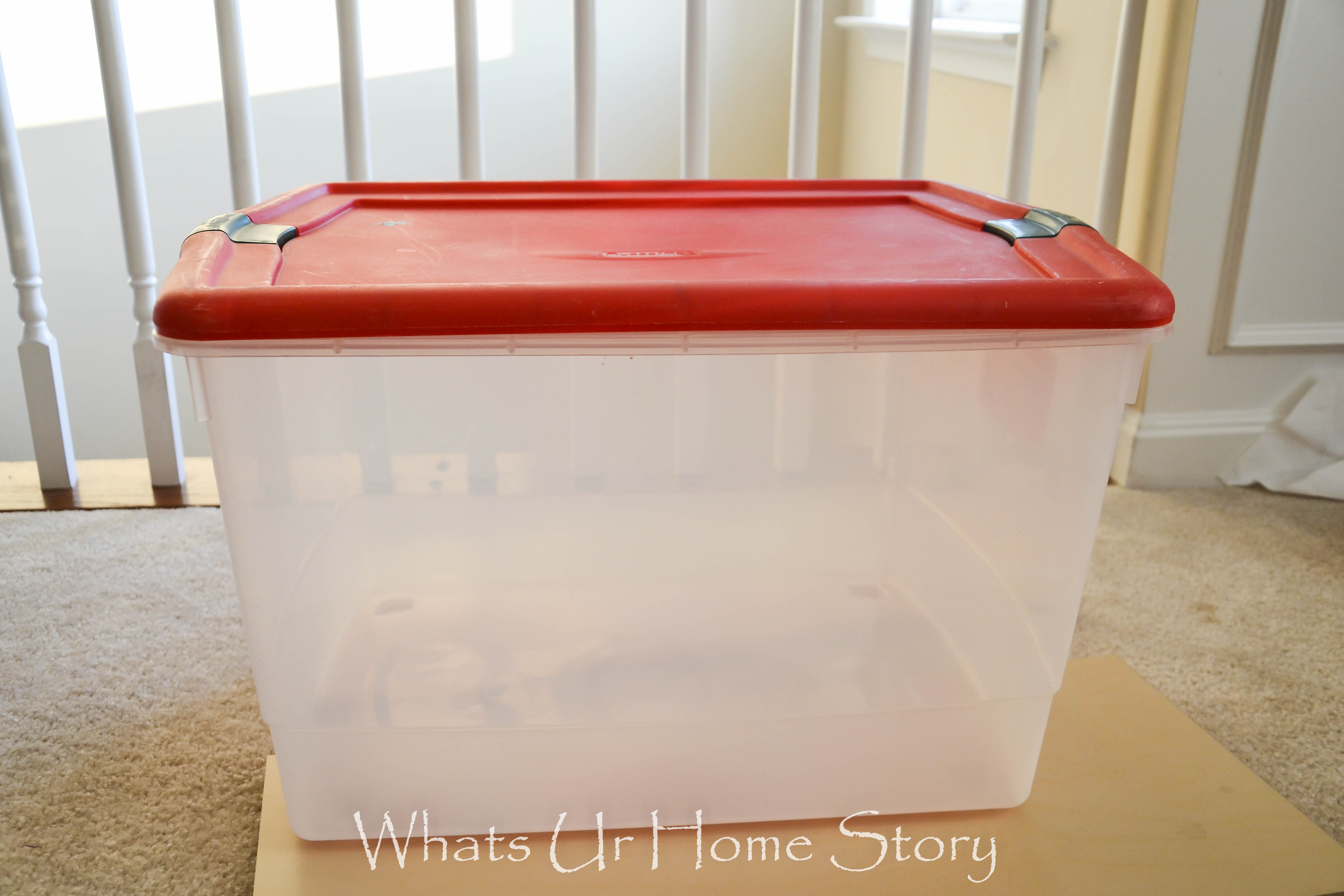 Plastic Storage Bin Makeover & Plastic Storage Bin Makeover | Whats Ur Home Story