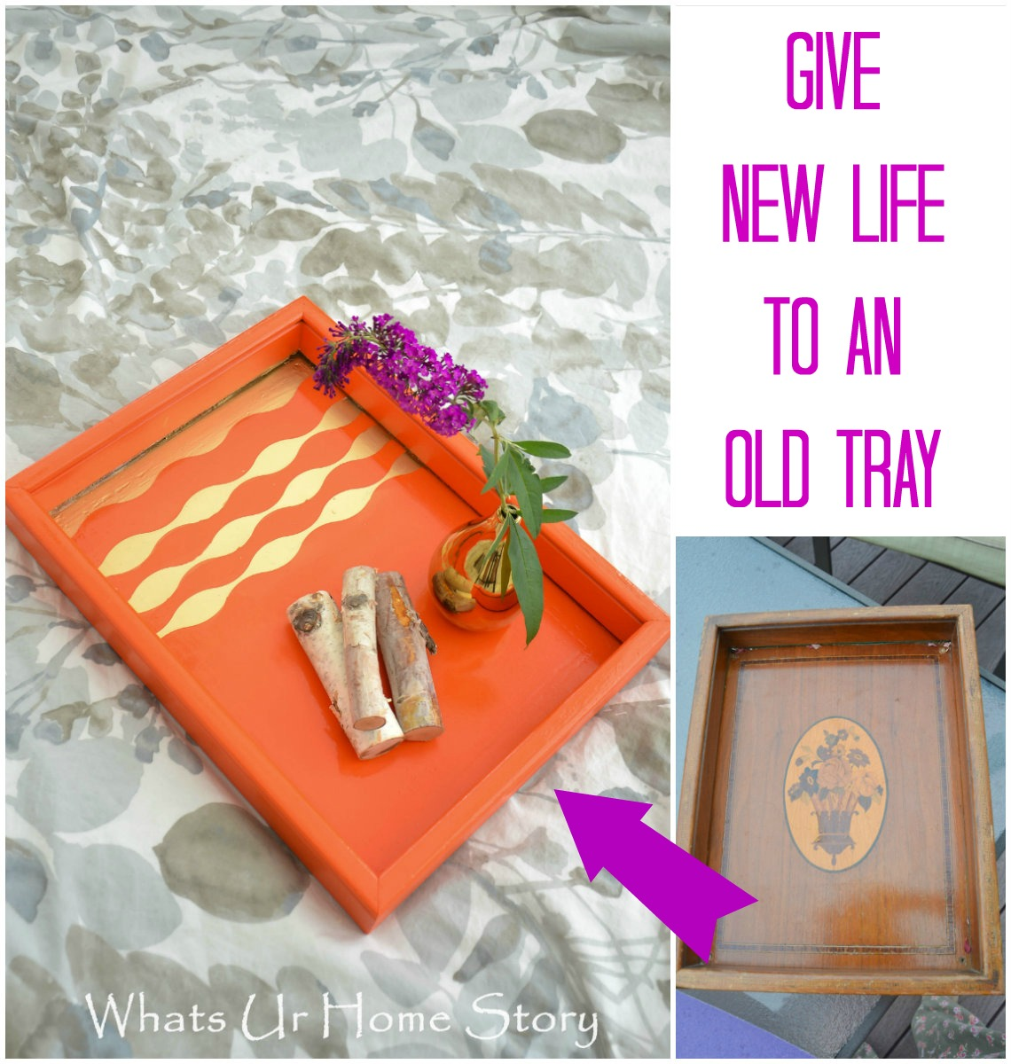 DIY Tray Makeover Using Paint Tutorial