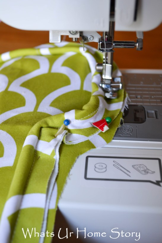 How to Sew a Seat Cushion with Piping