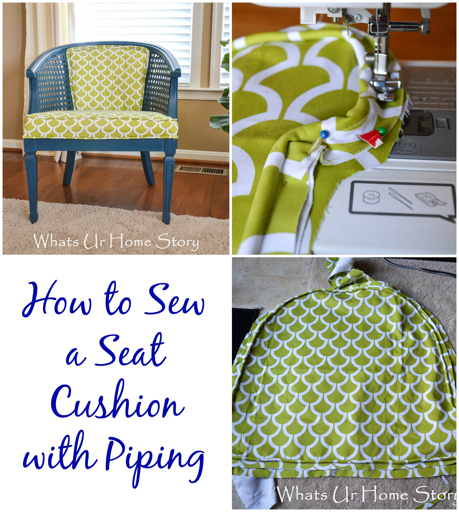 How to sew a window seat cushion without piping