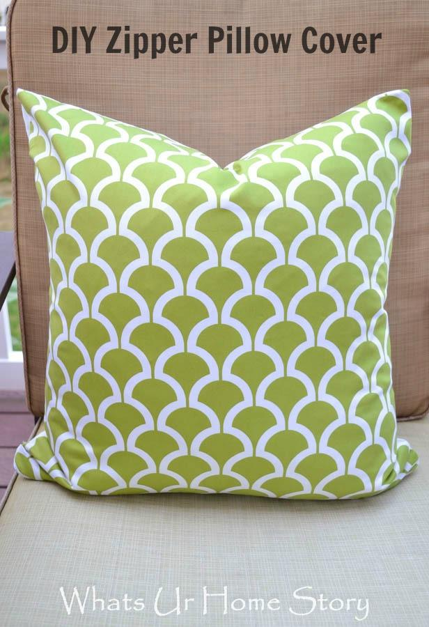 How to Sew a Pillow with Zipper Zipper Pillow Cover Tutorial & How to Sew a Pillow with Zipper - Zipper Pillow Cover Tutorial ... pillowsntoast.com