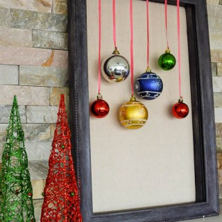 Shadow Box Holiday Decor with Ornaments