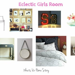 Eclectic Girls Room Mood Board