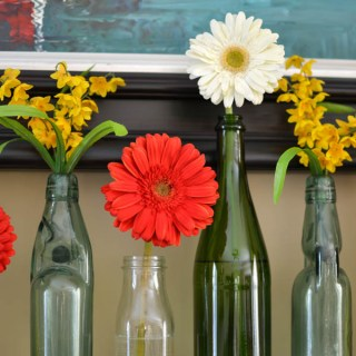 gerber daisy mantel decorating