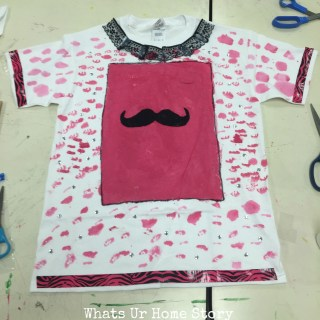 Great project for kids T Shirt painting with fabric paint