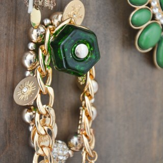 Use knobs to create a jewelry display