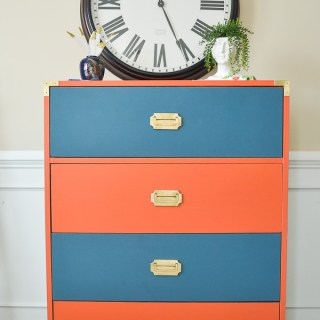 Give old laminate furniture a new look with paint Campaign Dresser Makeover
