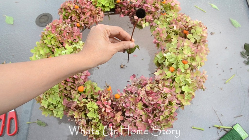 No Cost Hydrangea Wreath Whats Ur Home Story