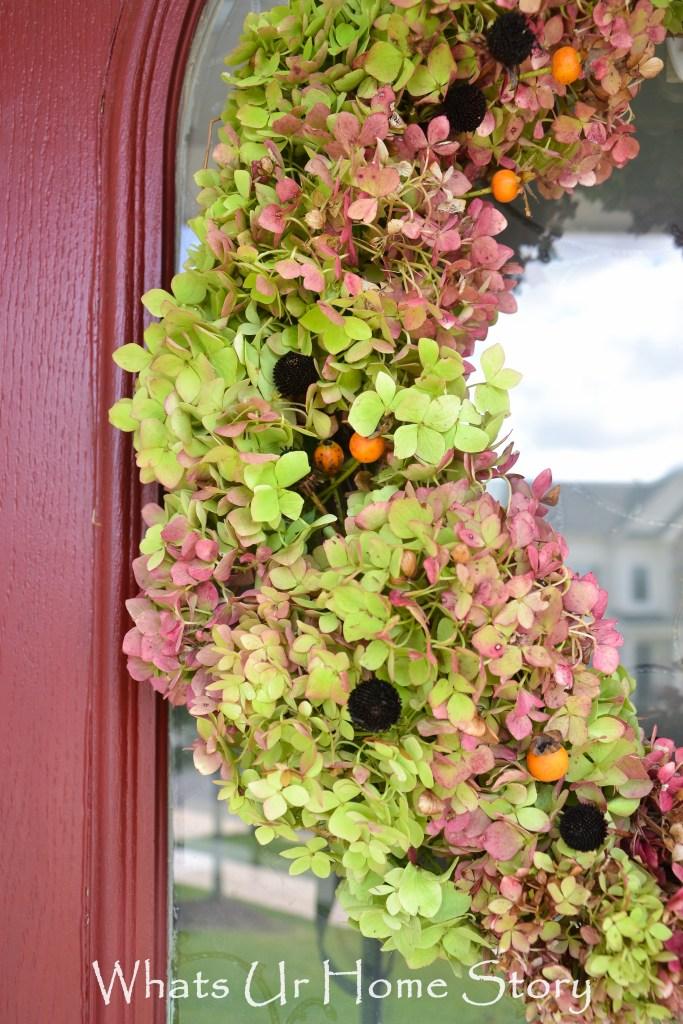 No Cost Hydrangea Wreath