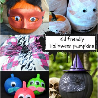 Great kid friendly Halloween pumpkins decorating