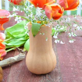 How to make a butternut squash centerpiece butternut squash vase