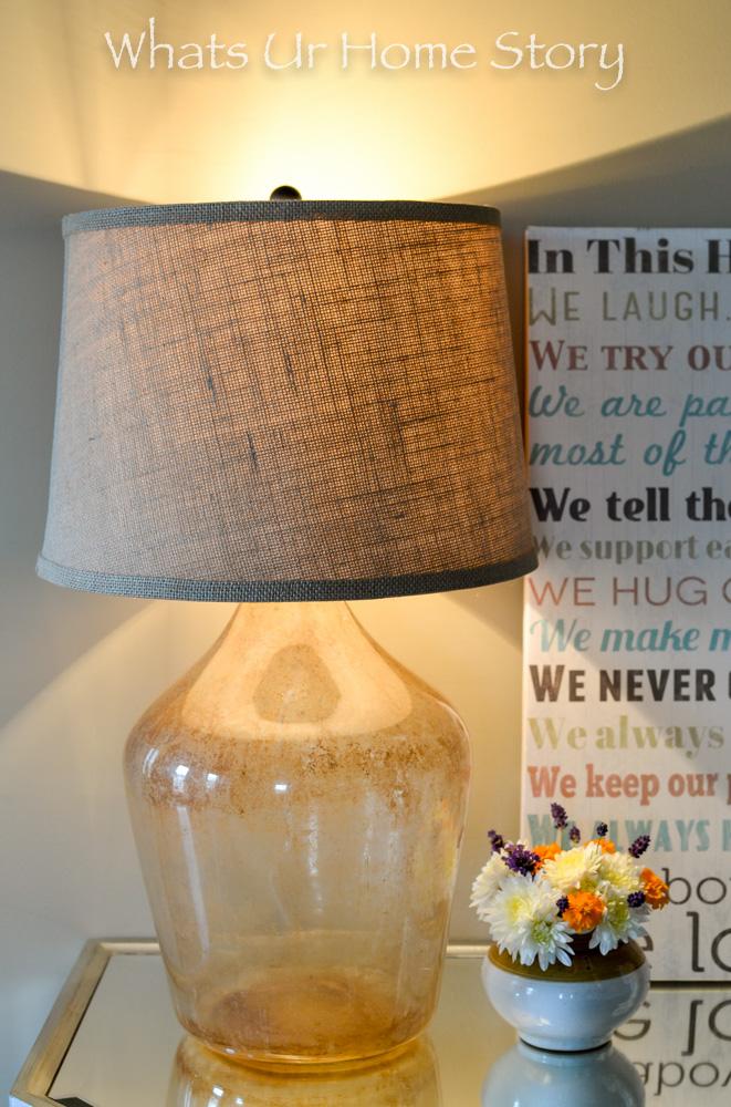 DIY Demijohn Lamp