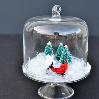 Isnt this mini Christmas cloche the cutest It is so easy to make