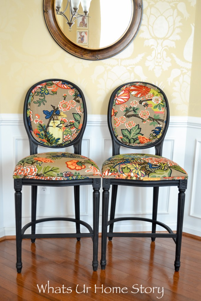 How to Give New Look to Old Fabric Bar Stools