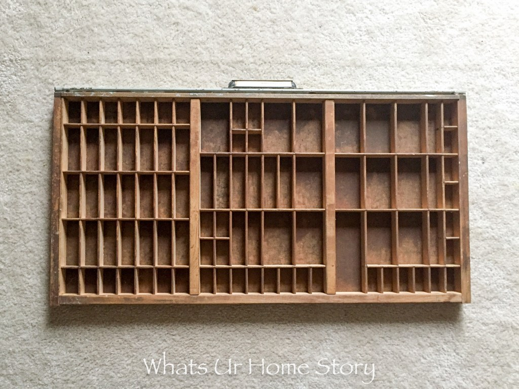 Letterpress Tray Jewelry Holder