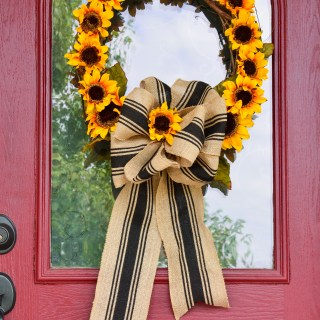 make this pretty fall sunflower wreath in  minutes