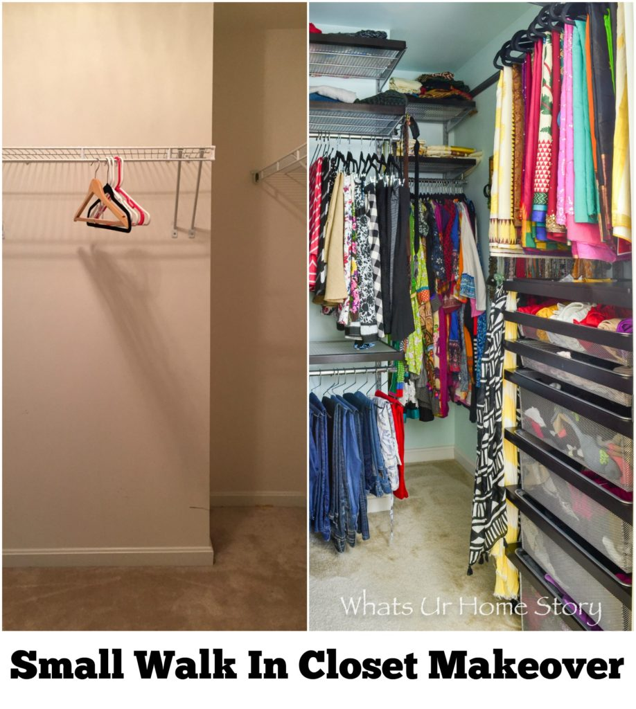 Small Walk In Closet Makeover Whats Ur Home Story