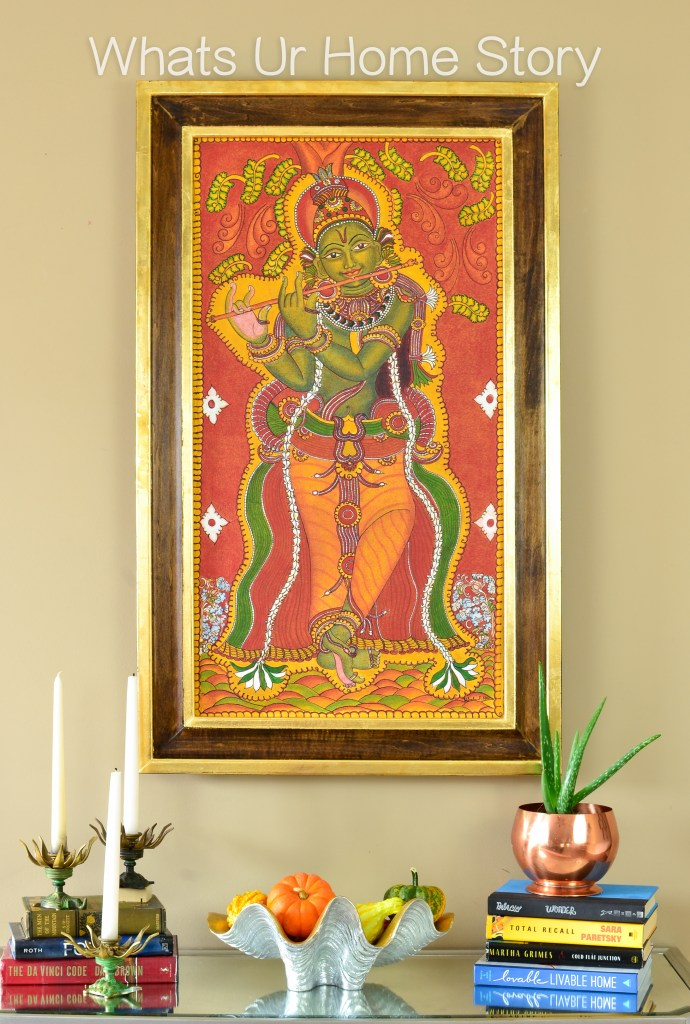 My Mom\'s Krishna Mural Painting & a DIY Frame | Whats Ur Home Story