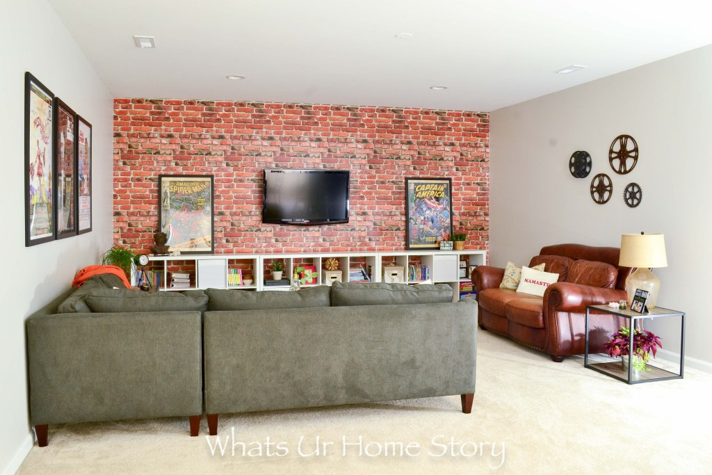 Loft Style Basement Family Room Makeover Whats Ur Home Story