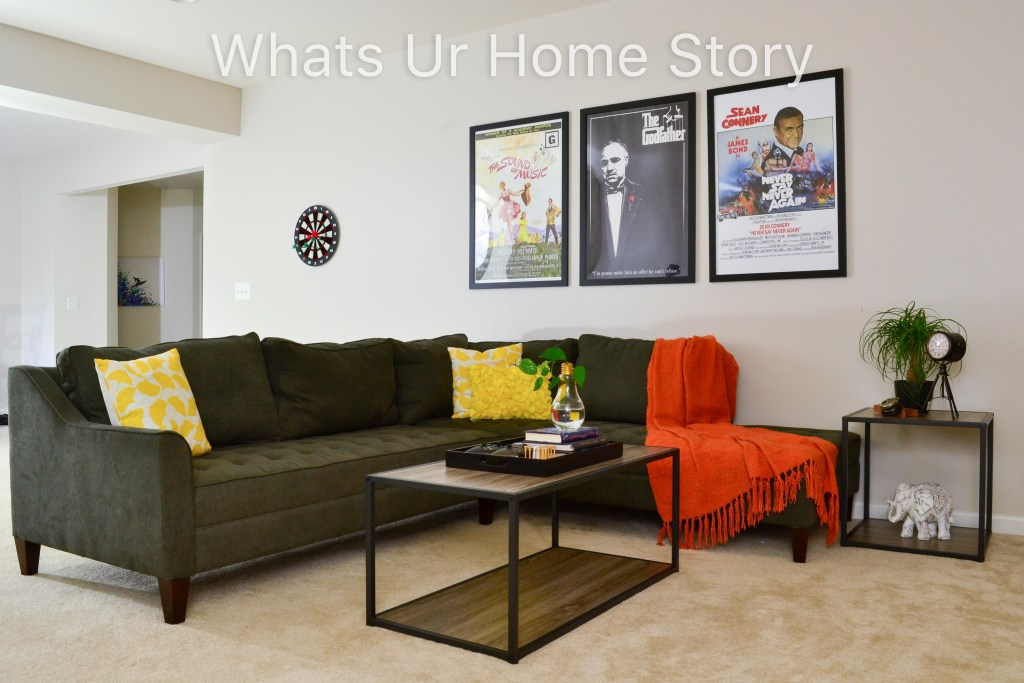 Loft Style Basement Family Room Makeover