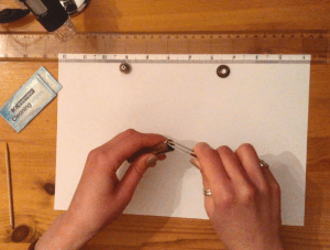 Replacing the o-ring with tweezers