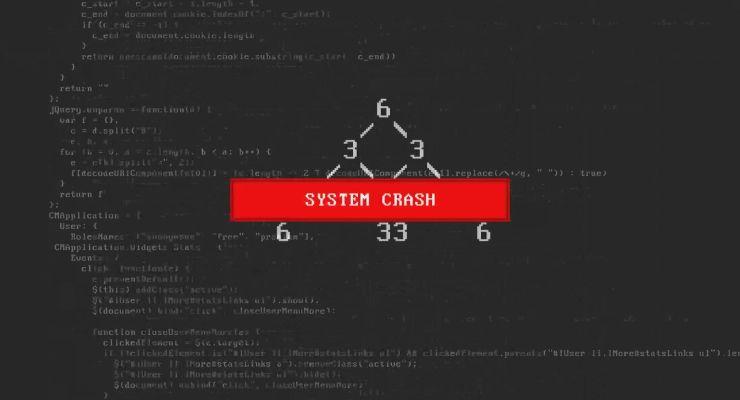 system crash screen