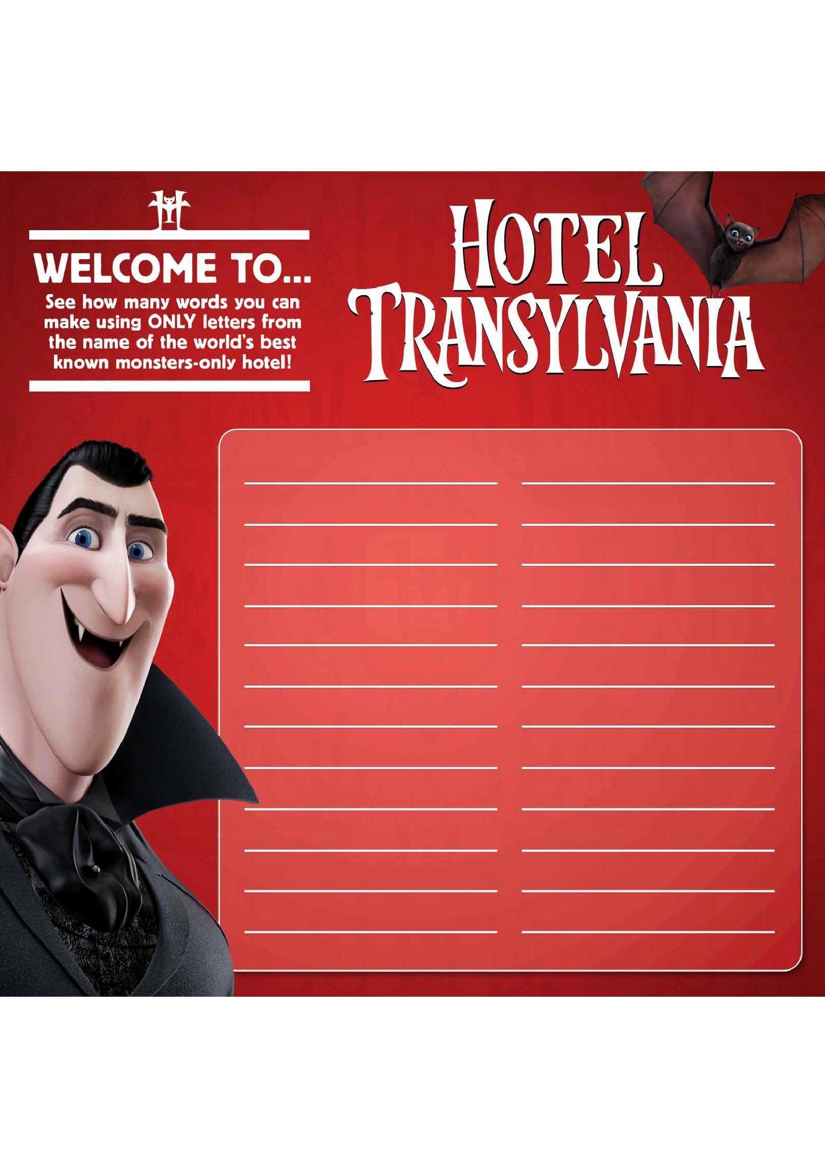 Hotel Transylvania Activity Sheets