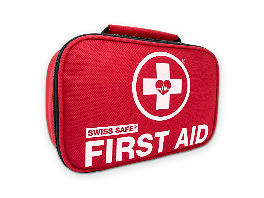 Swiss Safe 2-in-1 First Aid Kit (120 Piece)