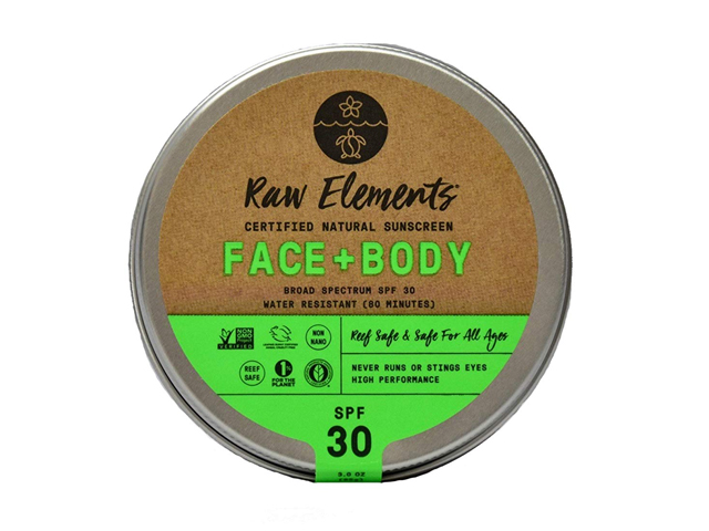 Raw Elements Face and Body Certified Natural Sunscreen SPF 30
