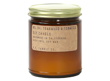 P.F. Candle Co.. - No. 04: Teakwood & Tobacco Soy Candle.