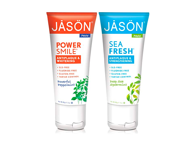 Jason Powersmile Travel Size Toothpaste, Peppermint with Deep Sea Spearmint