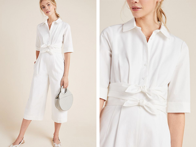 Sawyer Poplin Jumpsuit Anthropologie