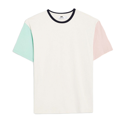 Topman Off White And Pastel Block T-Shirt