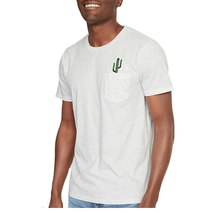 Old Navy Soft-Washed Embroidered-Graphic Pocket Tee for Men.