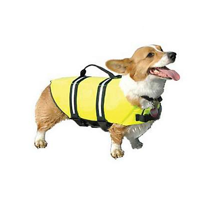 Paws Aboard Doggy Life Jacket in Yellow.