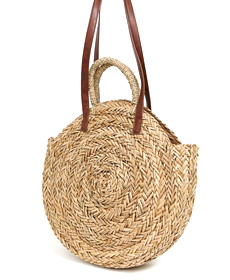 South Beach Exclusive large round straw bag.