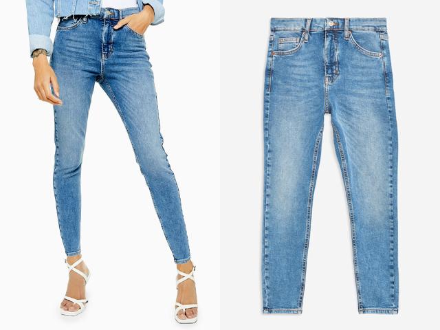 Topshop PETITE Blue Jamie Jeans.