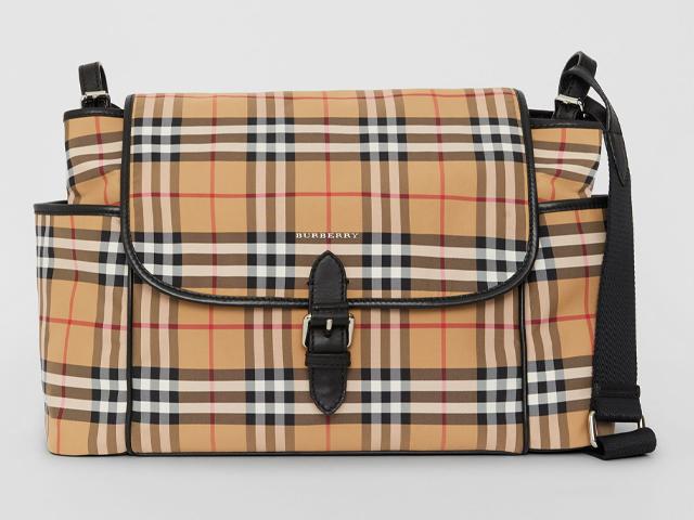 Burberry Vintage Check Baby Changing Shoulder Bag.