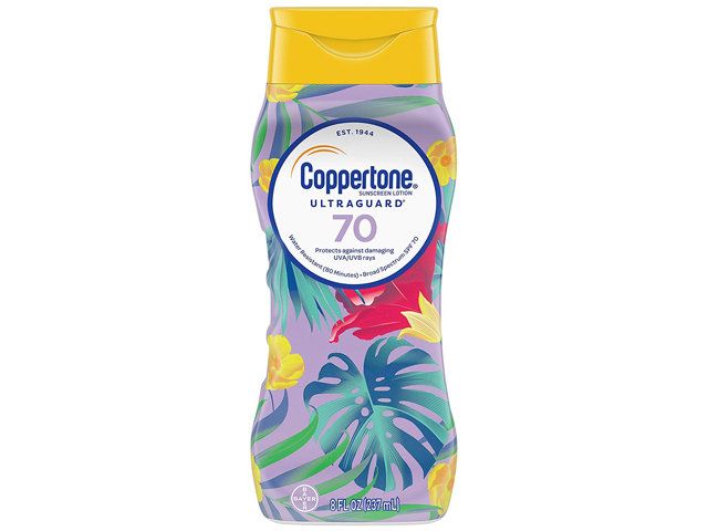 Coppertone ULTRA GUARD Sunscreen Lotion Broad Spectrum SPF 70.