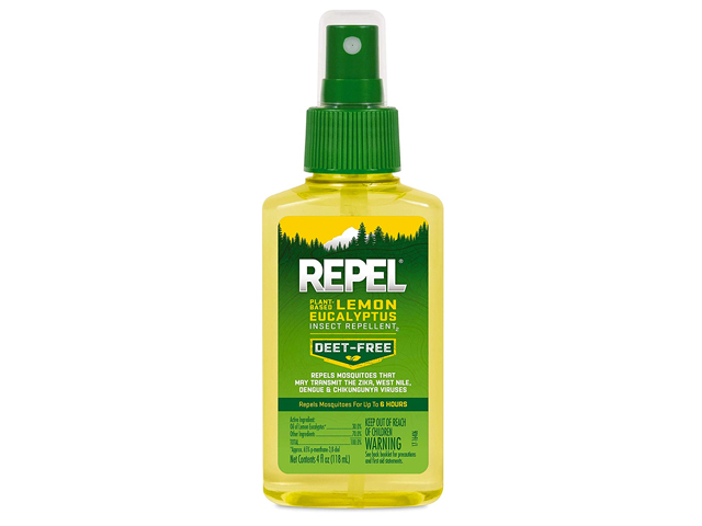 REPEL Plant-Based Lemon Eucalyptus Insect Repellent.