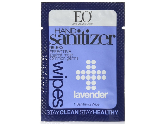 Eo Hand Sanitizer Wipe,lavender scented,24 count.