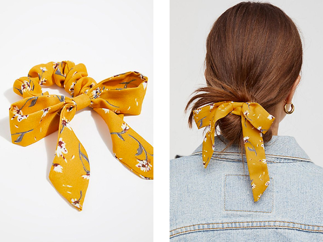 Free People Bow Scrunchie.