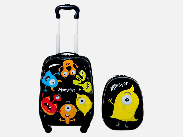 "Goplus 2Pc Kid Luggage, 12"" & 16"" Kids Carry On Luggage Set."
