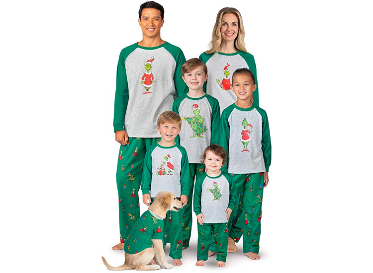 PajamaGram Holiday Grinch Pajamas Soft - Family Christmas Pajamas Set.